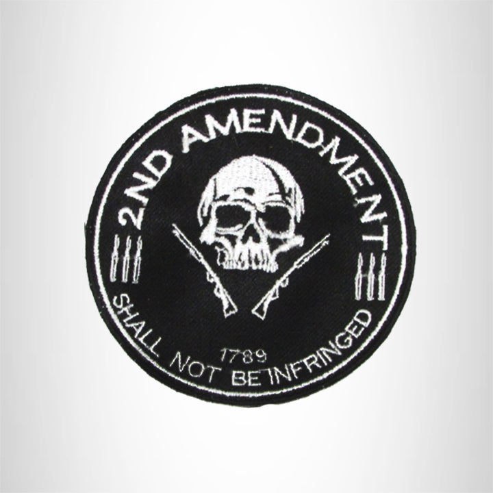 Small Patch 2nd Amendment 1789 Iron on for Biker Vest SB1014