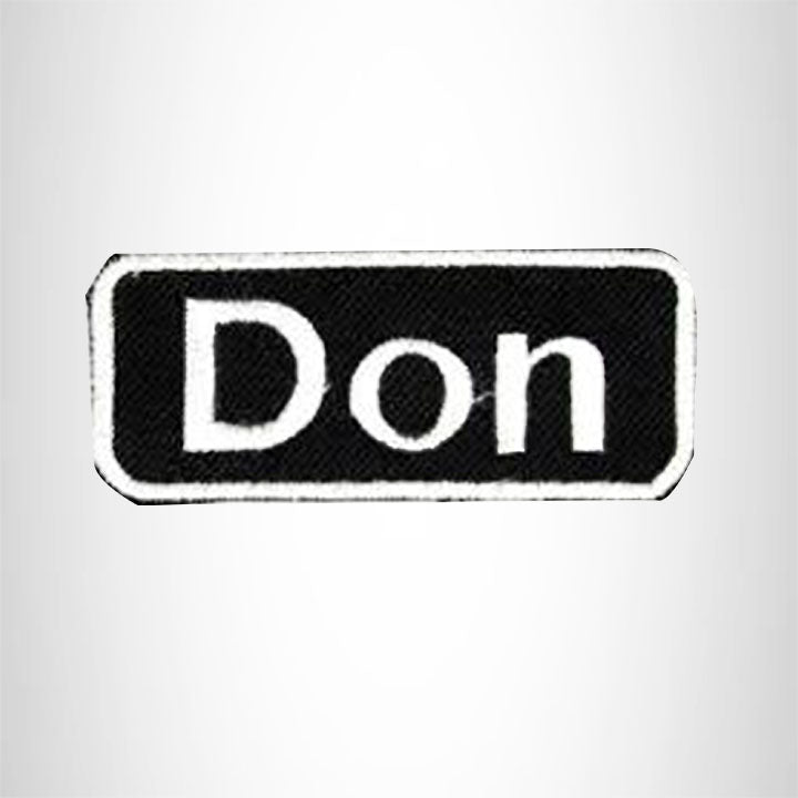 Don Iron on Name Tag Patch for Motorcycle Biker Jacket and Vest NB154