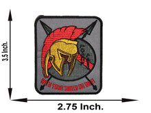 Load image into Gallery viewer, Spartan With Your Shield Or On It Patch IRON ON - 2.7x3.5 inch-STURGIS MIDWEST INC.