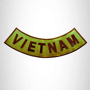 VIETNAM Brown on Gold Bottom Rocker Patch for Vest jacket