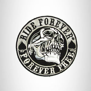 RIDE FOREVER SKULL Iron on Small Patch for Biker Vest SB881