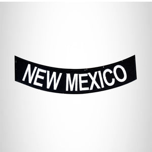 NEW MEXICO White on Black Bottom Rocker Patches for Vest jacket BR386