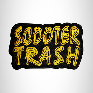 SCOOTER TRASH Small Patch Iron on for Vest Jacket SB659