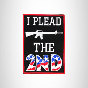 I PLEAD THE 2ND US FLAG Iron on Small Patch for Biker Vest SB887