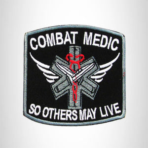 COMBAT MEDIC Iron on Small Patch for Biker Vest SB894