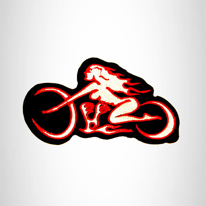 Tribal Style Female Motorcycle Small Patch for Biker Vest SB825