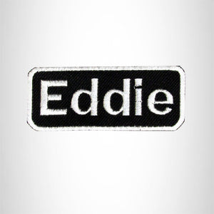 Eddie Iron on Name Tag Patch for Motorcycle Biker Jacket and Vest NB158