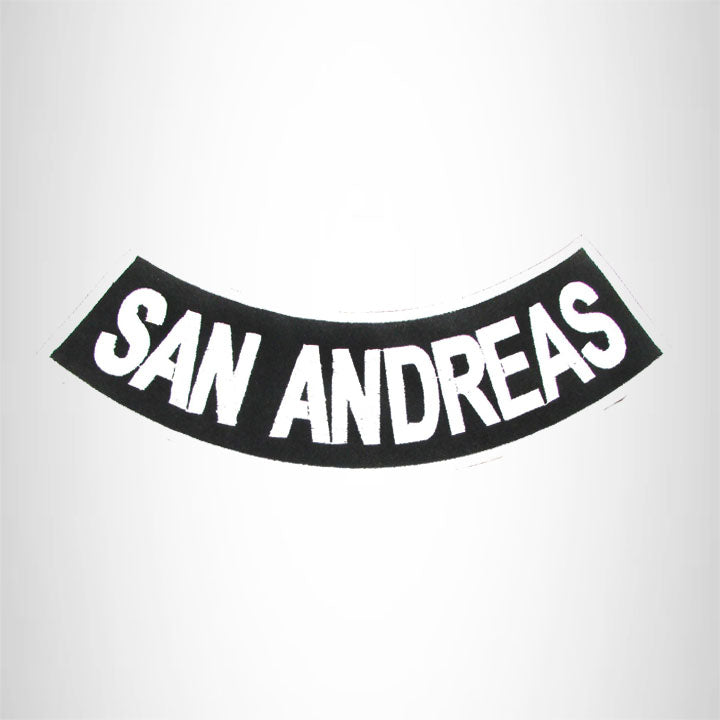 San Andreas Iron on Bottom Rocker Patch for Biker Vest BR460