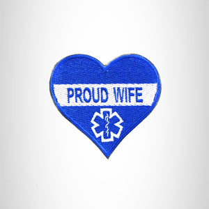 PROUD WIFE IN HAERT SHAPE Iron on Small Patch for Biker Vest SB896