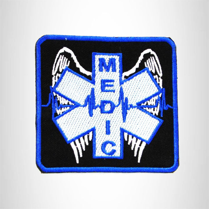 MEDIC WITH WINGS Iron on Small Patch for Biker Vest SB902