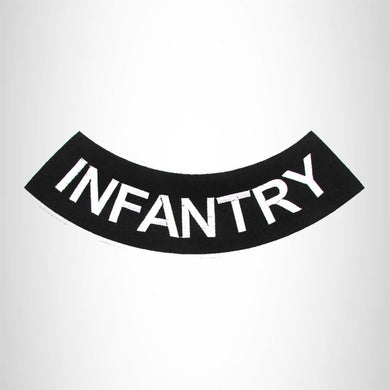 INFANTRY Iron on Bottom Rocker Patch for Motorcycle Biker Vest BR461