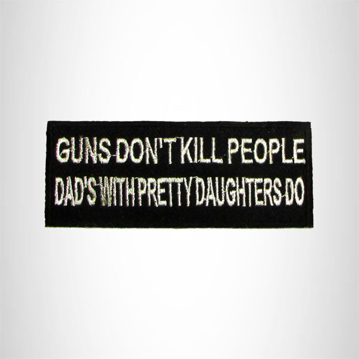 Guns don't kill people Iron on Small Patch for Motorcycle Biker Vest SB1039