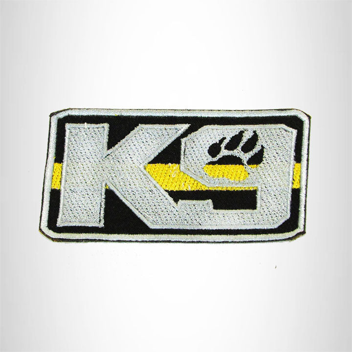 K9 Blue Gray with Black Iron on Small Patch for Biker Vest SB919
