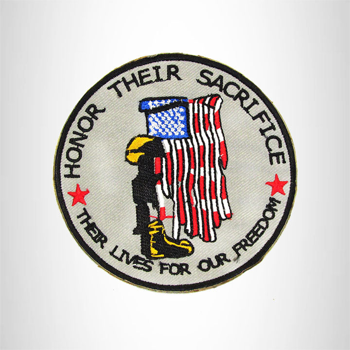 HONER THEIR SACRIFICE Iron on Small Patch for Biker Vest SB920