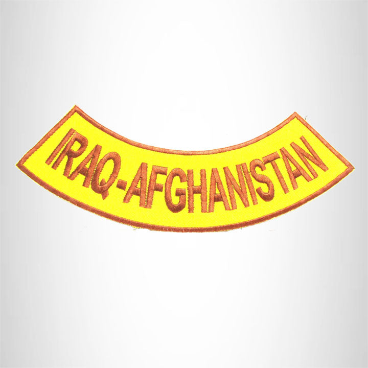 IRAQ-AFGHANISTAN Iron on Bottom Rocker Patch for Motorcycle Biker Vest BR462