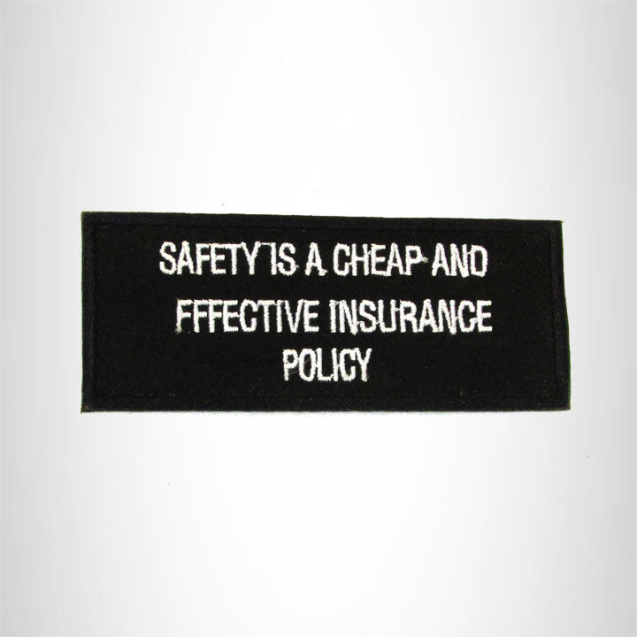 SAFETY IS A CHEAP Iron on Small Patch for Biker Vest SB929