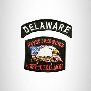 DELAWARE Defend Your Rights the 2nd Amendment 2 Patches Set for Vest Jacket