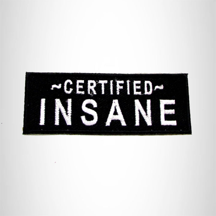 Certified Insane Iron on Small Patch for Motorcycle Biker Vest SB1025