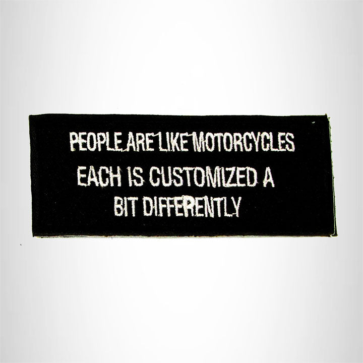 People are Like Motorcycles Iron on Small Patch for Biker Vest SB947