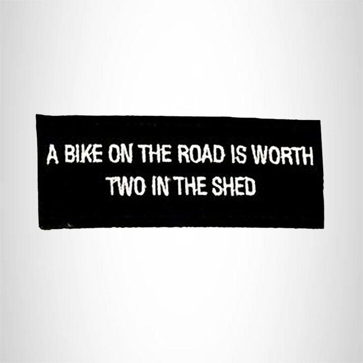 Small Patch A Bike on the Road Iron on for Biker Vest SB965