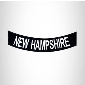 NEW HAMPSHIRE Bottom Rocker Patch for Vest jacket BR395