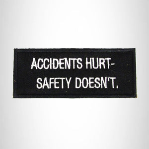 Accidents Hurt Safety Iron on Small Patch for Biker Vest SB974