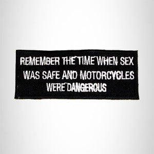 Remember the Time When Iron on Small Patch for Biker Vest SB980