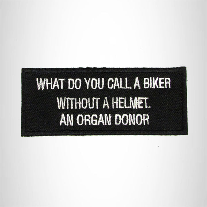 What Do you Call a Biker Without a Helmet Iron on Small Patch for Biker Vest SB982
