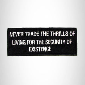 Never Trade the Thrills of Living Iron on Small Patch for Biker Vest SB986