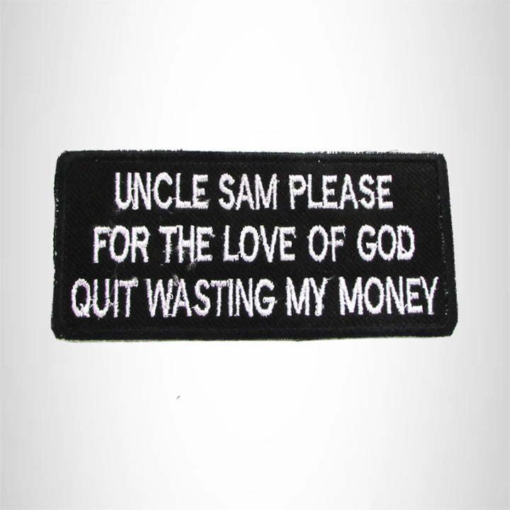 Uncle Sam Please for the Love of God Small Patch for Biker Vest SB1028