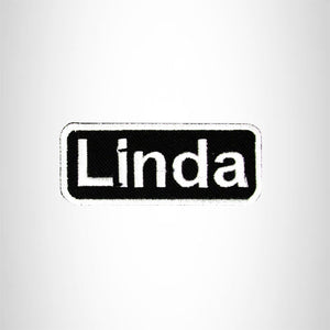 Linda Iron on Name Tag Patch for Biker Vest NB131