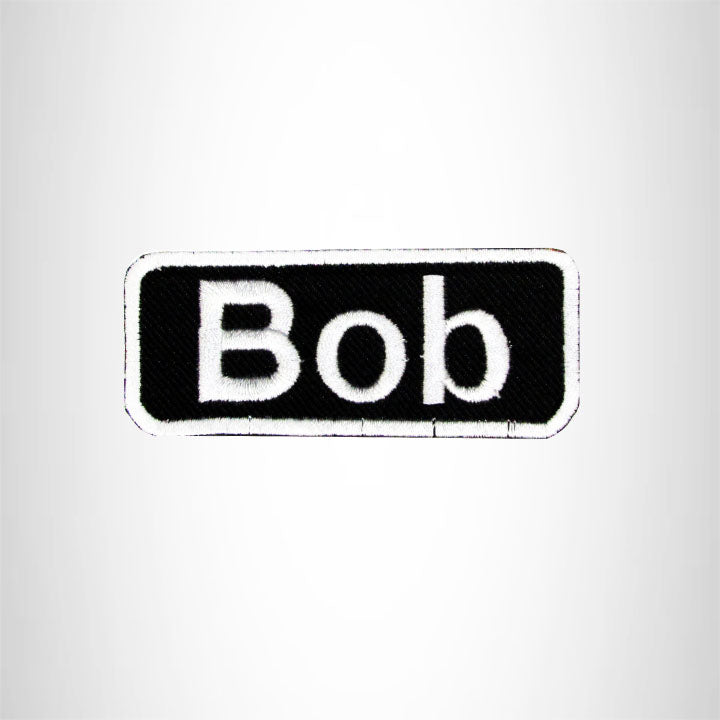 Bob Iron on Name Tag Patch for Motorcycle Biker Jacket and Vest NB143