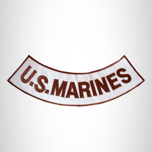 U.S.MARINES Iron on Bottom Rocker Patches for Biker Vest jacket BR304