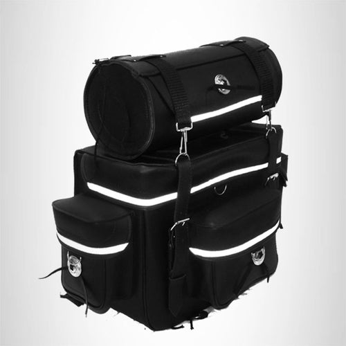 2 Piece T bag set Motorcycle sissy bar Bag with reflective strip