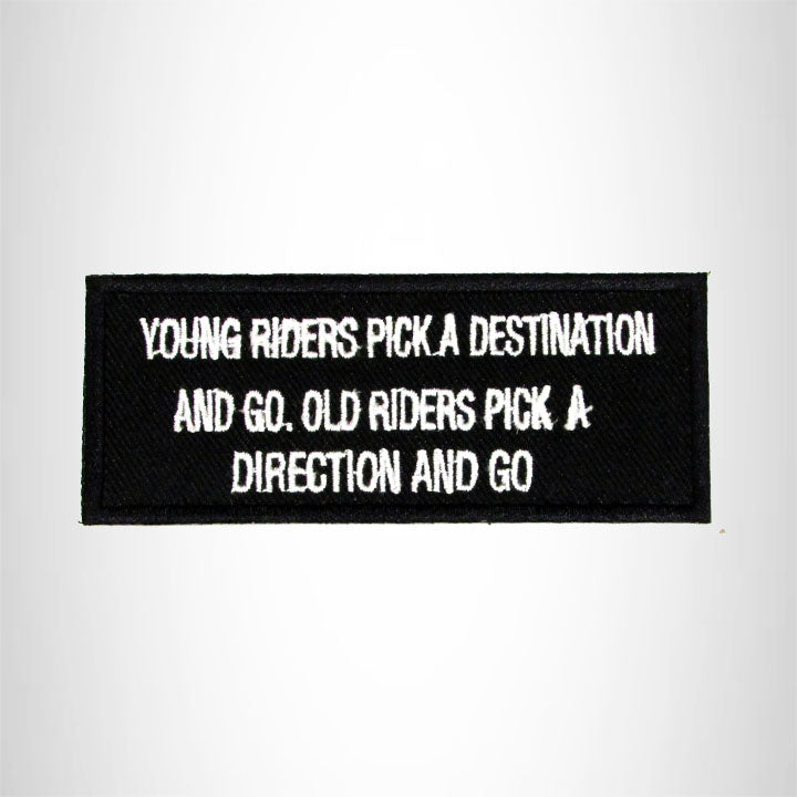 Young Riders Pick a Destination Iron on Small Patch for Biker Vest