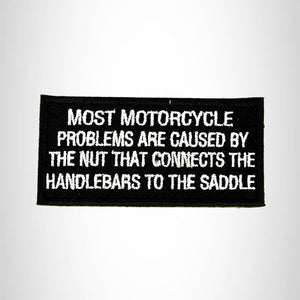 Most Motorcycle Problems Iron on Small Patch for Biker Vest SB989