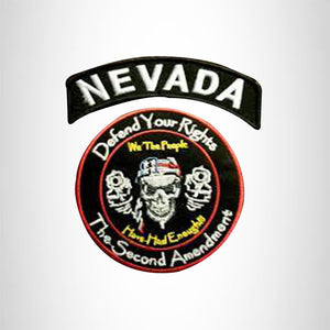 NEVADA Defend Your Rights the 2nd Amendment 2 Patches Set for Vest Jacket