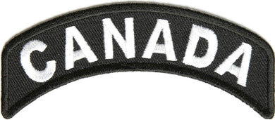 CANADA Rocker Patch Small Embroidered Motorcycle NEW Biker Vest Patch-STURGIS MIDWEST INC.
