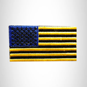 FLAG Yellow Blue AND Black Small Patch Iron on for Vest SB646
