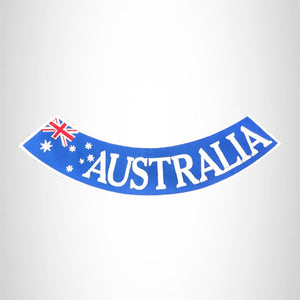Australia Red and white on Blue Bottom Rocker Iron on Patch for Biker Vest BR474