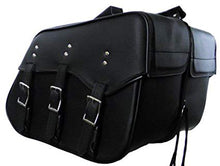 Load image into Gallery viewer, Genuine Cowhide Leather Saddlebags for harley dyna superglide low rider 212-STURGIS MIDWEST INC.