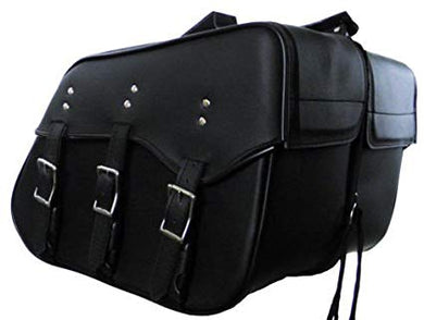 Genuine Cowhide Leather Saddlebags for harley dyna superglide low rider 212-STURGIS MIDWEST INC.