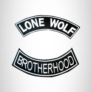 LONE WOLF Brotherhood 2 Patches Set Sew on for Vest Jacket