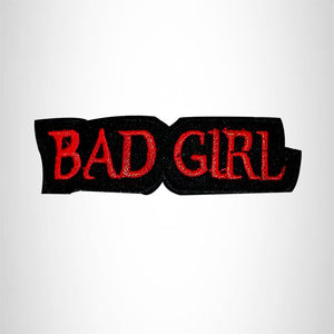 Bad Girl Red White and Black Iron on Small Patch for Women Biker Vest SB468-W