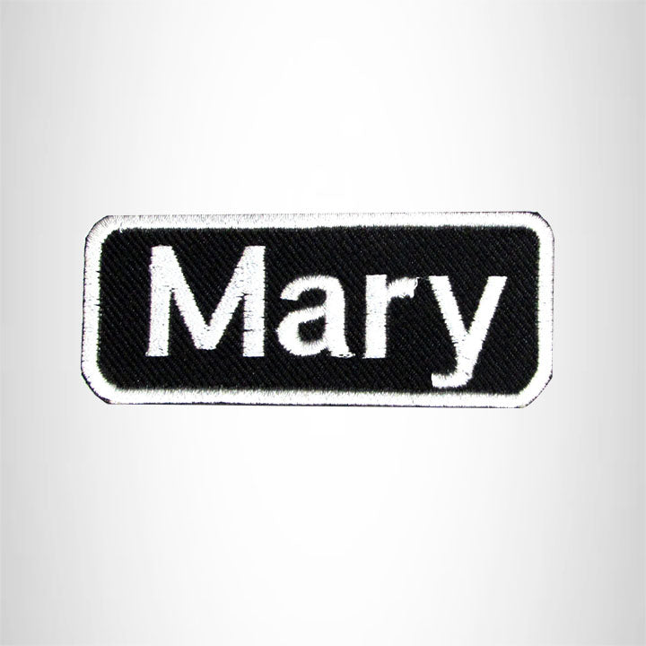 Mary Iron on Name Tag Patch for Biker Jacket and Vest NB133