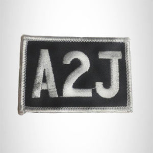 Small Patch A2J Christian Biker Iron on for Biker Vest