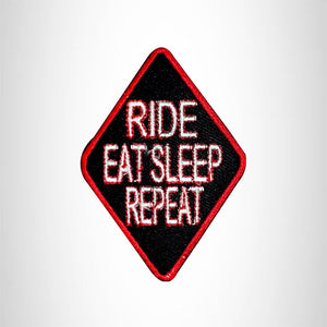 Ride Eat Sleep Repeat Small Patch for Vest Jacket SB542