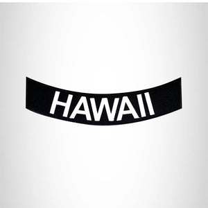 HAWAII White on Black  Bottom Rocker Patches for Vest jacket BR407