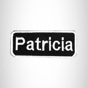 Patricia Iron on Name Tag Patch for Biker Jacket and Vest NB135