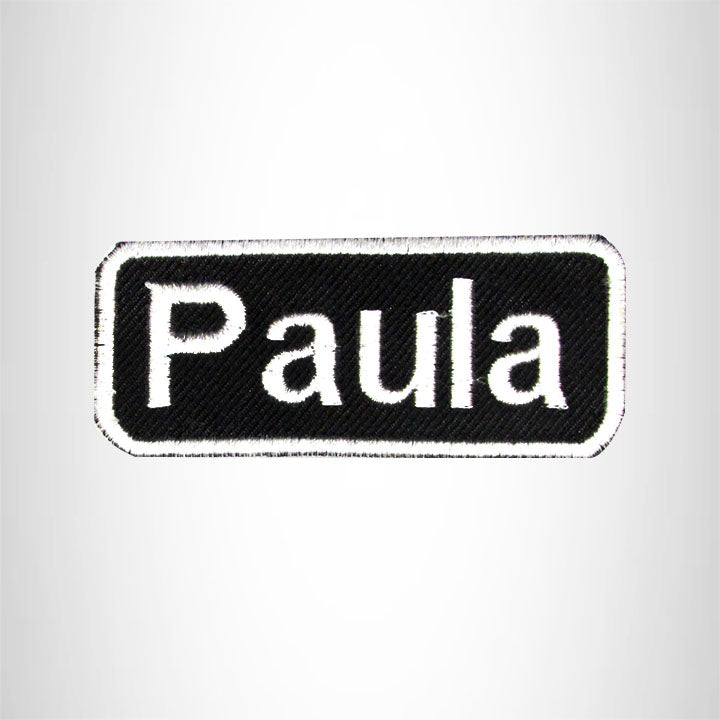 Paula Iron on Name Tag Patch for Biker Jacket and Vest NB136